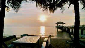 Spiaggia di tramonto Fotografia Stock Libera da Diritti