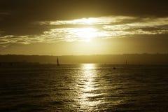 Spiaggia di tramonto Immagine Stock Libera da Diritti