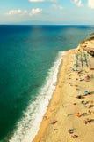 Spiaggia di Tropea Fotografie Stock Libere da Diritti