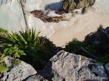 Spiaggia di Tulum Immagine Stock