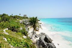 Spiaggia di Tulum Immagine Stock Libera da Diritti