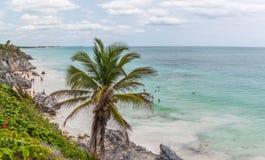 Spiaggia di Tulum, Quintana Roo fotografie stock libere da diritti