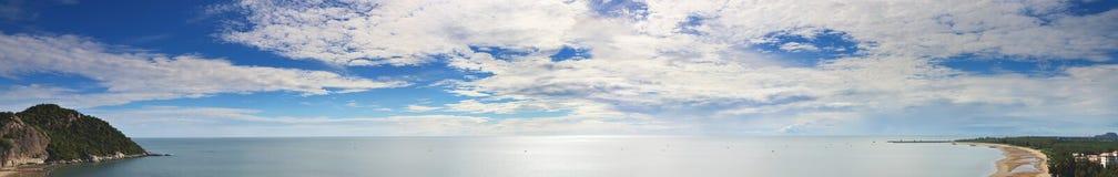 Spiaggia di tum-Kiab di Khao di panorama Fotografie Stock Libere da Diritti