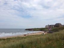 Spiaggia di Tynemouth fotografie stock