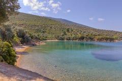Spiaggia di Tzasteni, Pelio, Thessaly, Grecia Fotografie Stock