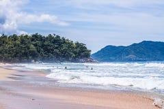 Spiaggia di Ubatuba Fotografia Stock Libera da Diritti