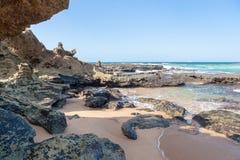 Spiaggia di Umdloti, Kwazulu Natal, Sudafrica Fotografie Stock