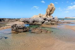 Spiaggia di Umdloti, Kwazulu Natal, Sudafrica Immagine Stock