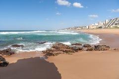 Spiaggia di Umdloti, Kwazulu Natal, Sudafrica Immagine Stock Libera da Diritti
