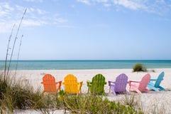Spiaggia di vacanza di estate Immagine Stock Libera da Diritti