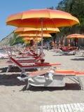 Spiaggia di vacanza in Italia Fotografie Stock Libere da Diritti