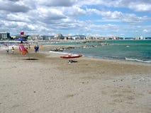 Spiaggia di vacanza in Italia Fotografie Stock