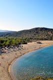Spiaggia di Vai, Crete. Immagine Stock