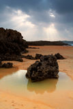 Spiaggia di Valdearenas. La Spagna Immagine Stock