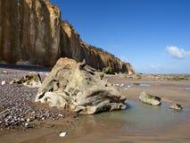 Spiaggia di Varengeville Fotografia Stock