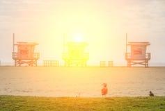 Spiaggia di Venezia, California Fotografia Stock Libera da Diritti