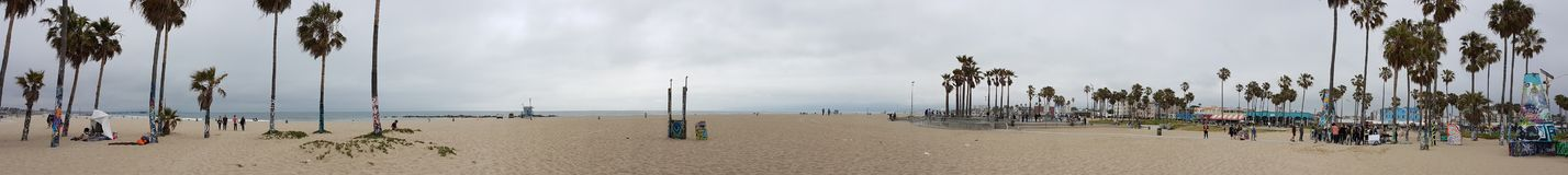 Spiaggia di Venezia panoramica immagini stock