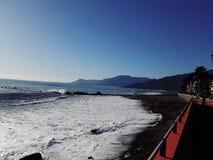 Spiaggia di Ventimiglia fotografie stock libere da diritti