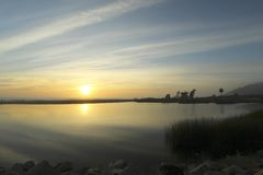 Spiaggia di Ventura California di tramonto Fotografia Stock Libera da Diritti