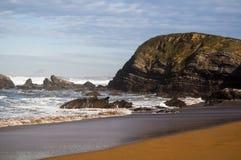 Spiaggia di Verdicio, Asturie Fotografie Stock