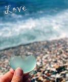Spiaggia di vetro Fotografie Stock
