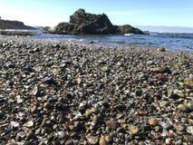 Spiaggia di vetro Immagine Stock