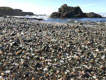 Spiaggia di vetro Fotografie Stock Libere da Diritti