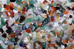 Spiaggia di vetro colorata Immagini Stock