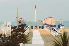 Spiaggia di Viareggio, Italia, Toscana fotografia stock libera da diritti
