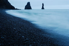 Spiaggia di Vik i Myrdal, Islanda Fotografia Stock Libera da Diritti