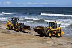 Spiaggia di Vilano di pulizia in Florida Fotografia Stock