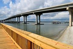 Spiaggia di Vilano, ponte di Florida fotografia stock libera da diritti