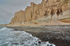 Spiaggia di Vlychada Santorini, isole di Cicladi La Grecia fotografie stock libere da diritti