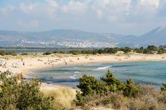 Spiaggia di Voidokilia fotografie stock