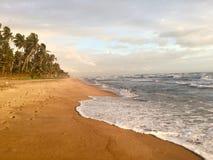 Spiaggia di Wadduwa, Sri Lanka Fotografia Stock Libera da Diritti