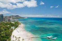 Spiaggia di Waikiki Fotografia Stock Libera da Diritti
