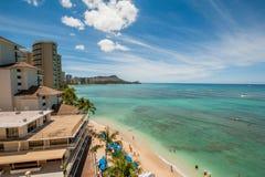 Spiaggia di Waikiki immagine stock libera da diritti