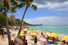 Spiaggia di Waikiki Fotografia Stock