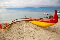 Spiaggia di Waikiki, Honolulu, Hawai Immagini Stock Libere da Diritti