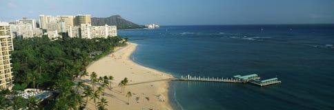 Spiaggia di Waikiki, Honolulu, HI Fotografie Stock Libere da Diritti