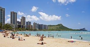 Spiaggia di Waikiki, Oahu, Hawai fotografia stock libera da diritti