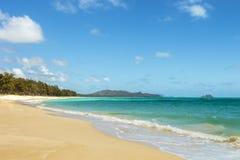 Spiaggia di Waimanalo Immagine Stock