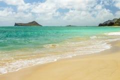 Spiaggia di Waimanalo Fotografia Stock