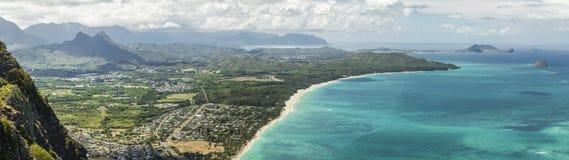 Spiaggia di Waimanalo Fotografie Stock