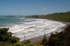 Spiaggia di Wainui Immagine Stock
