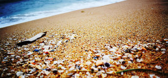 Spiaggia di Walatha in Unakuruwa Sri Lanka fotografia stock libera da diritti