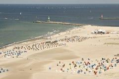 Spiaggia di Warnemünde Immagini Stock Libere da Diritti