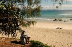 Spiaggia di Wategos, baia Australia di Byron Fotografie Stock Libere da Diritti
