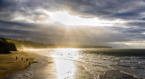 Spiaggia di Whitby Fotografia Stock