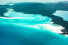 Spiaggia di Whitehaven, Queensland Immagine Stock Libera da Diritti